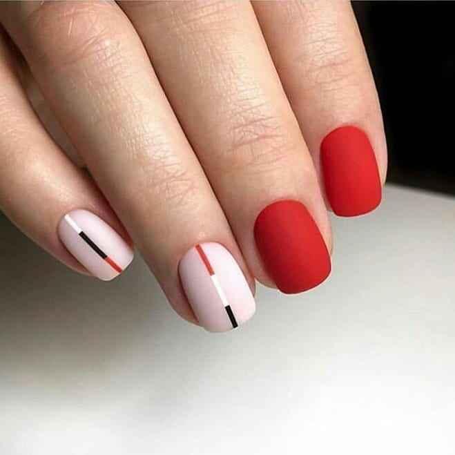 Матовый маникюр на короткие ногти фото_8