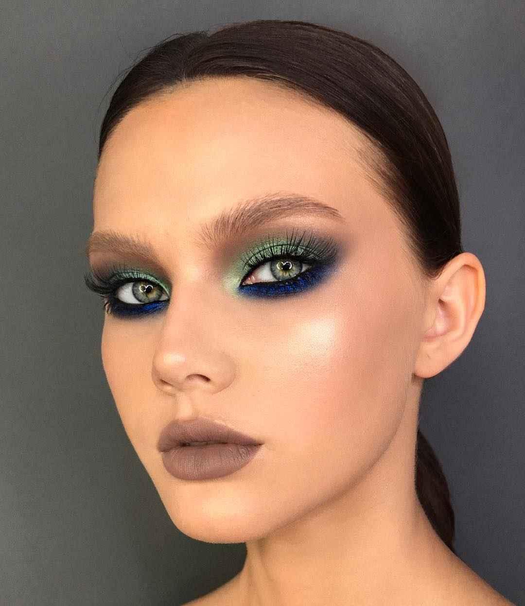 Макияж под зеленые глаза и темные волосы_7