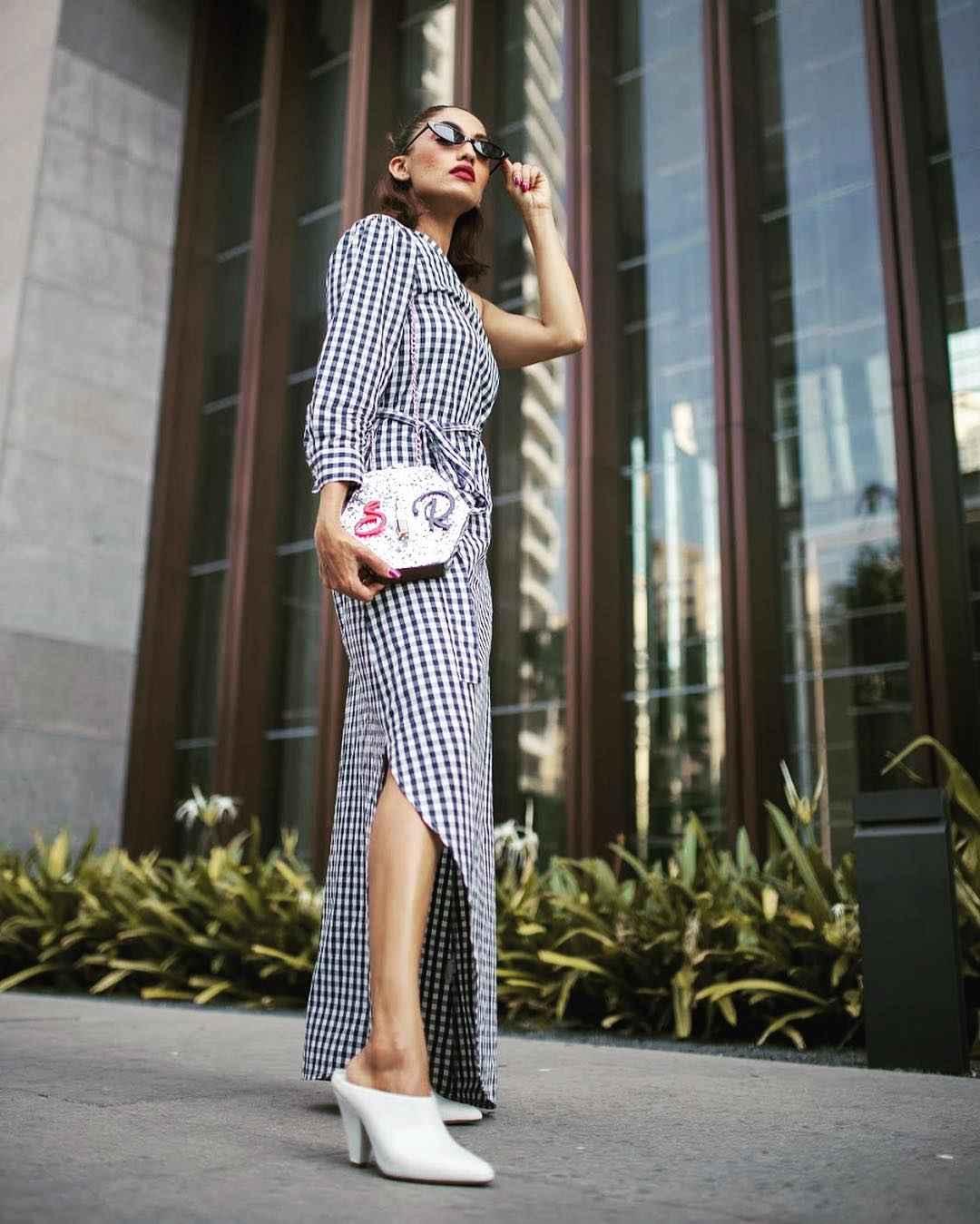 Платье в клетку фото_23