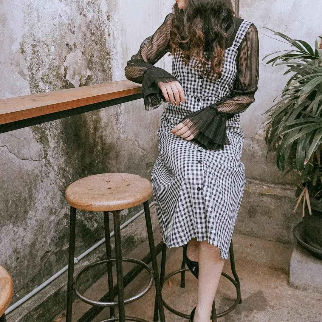 Платье в клетку фото_29