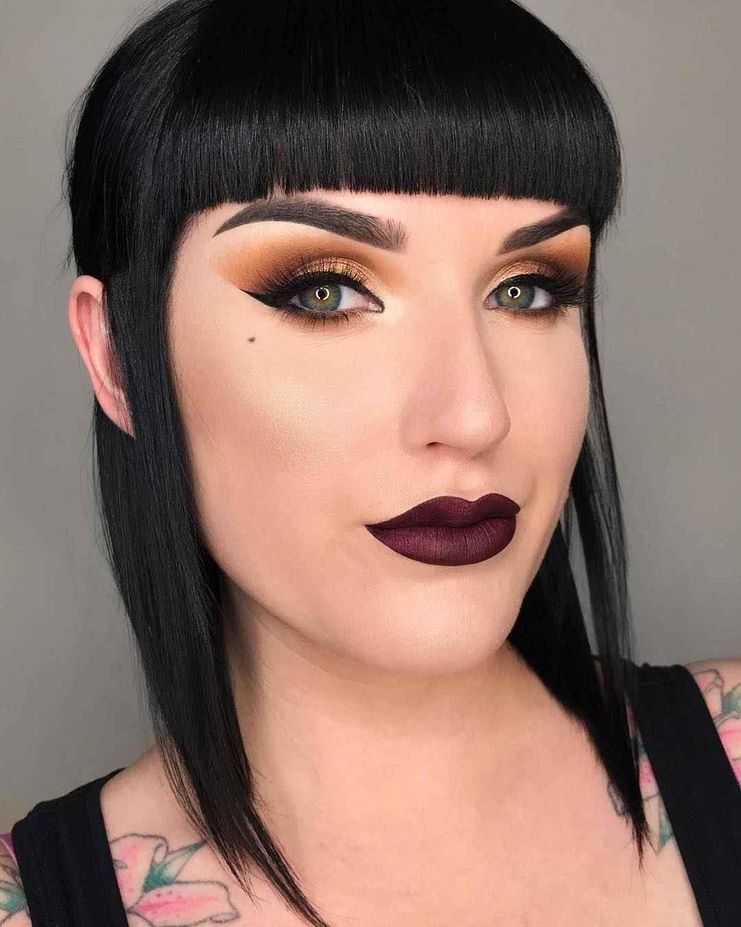 Вечерний макияж для темных волос и зеленых глаз_3