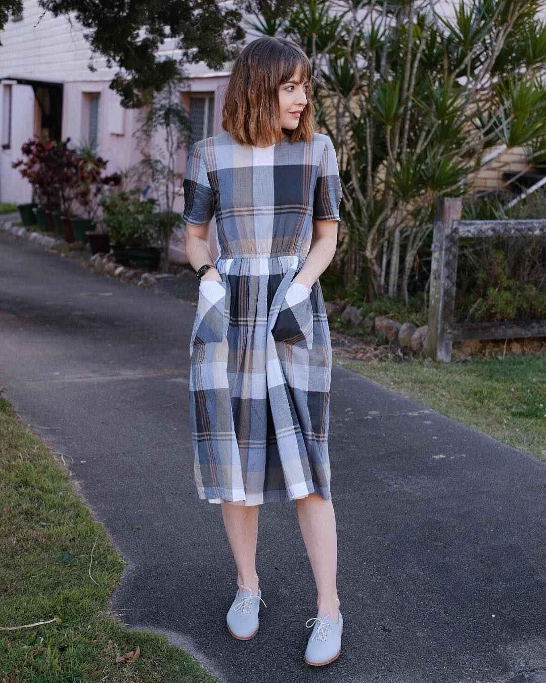 Платье в клетку фото_31