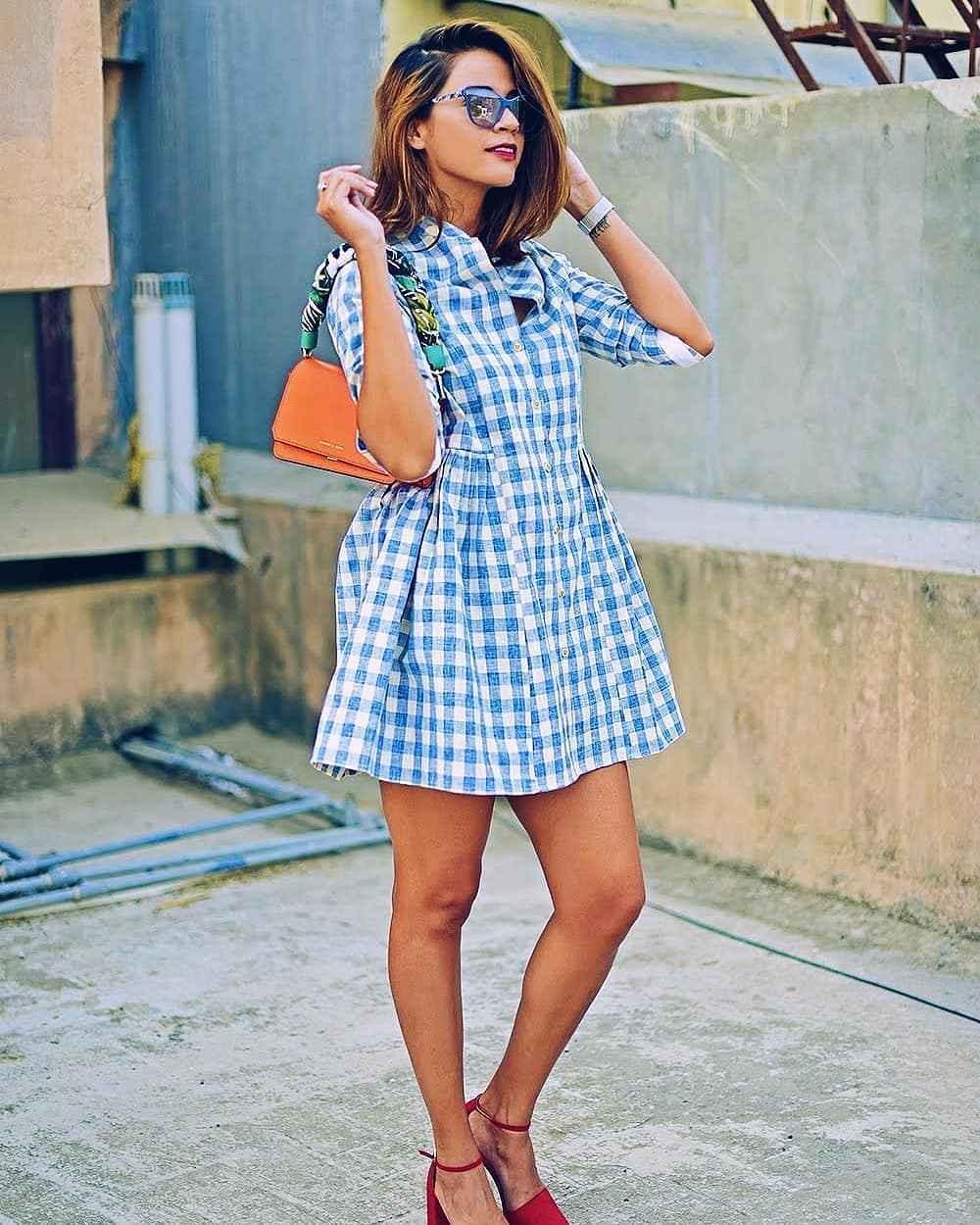 Платье в клетку фото_4