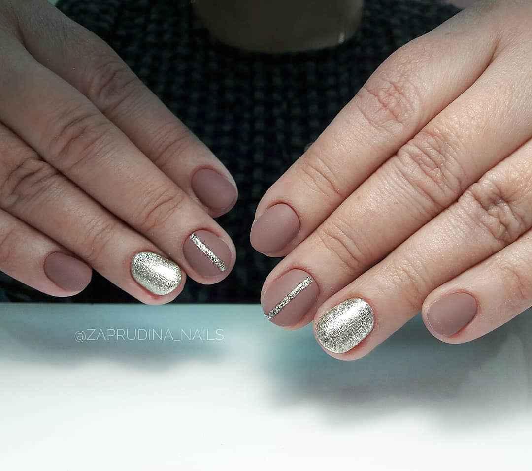 Нежный матовый маникюр на короткие ногти фото_1