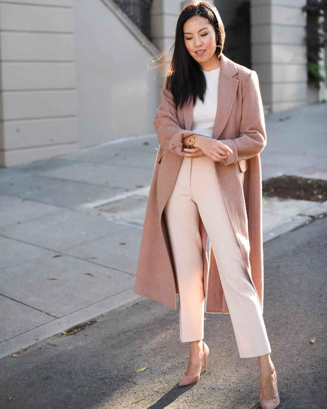Модный офисный стиль 2019-2020 с брюками фото идеи_6