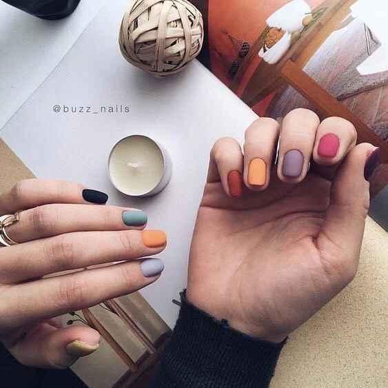 Маникюр на короткие квадратные ногти весна 2019 фото_7