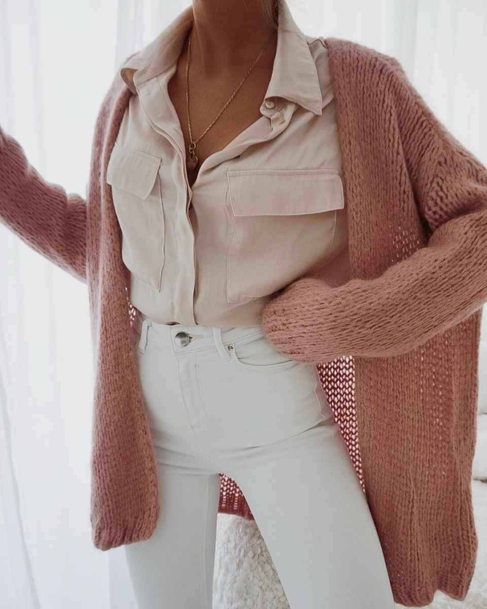 Красивые образы с блузами и рубашками 2019 фото_11
