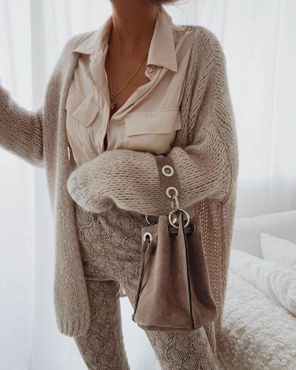 Красивые образы с блузами и рубашками 2019 фото_8