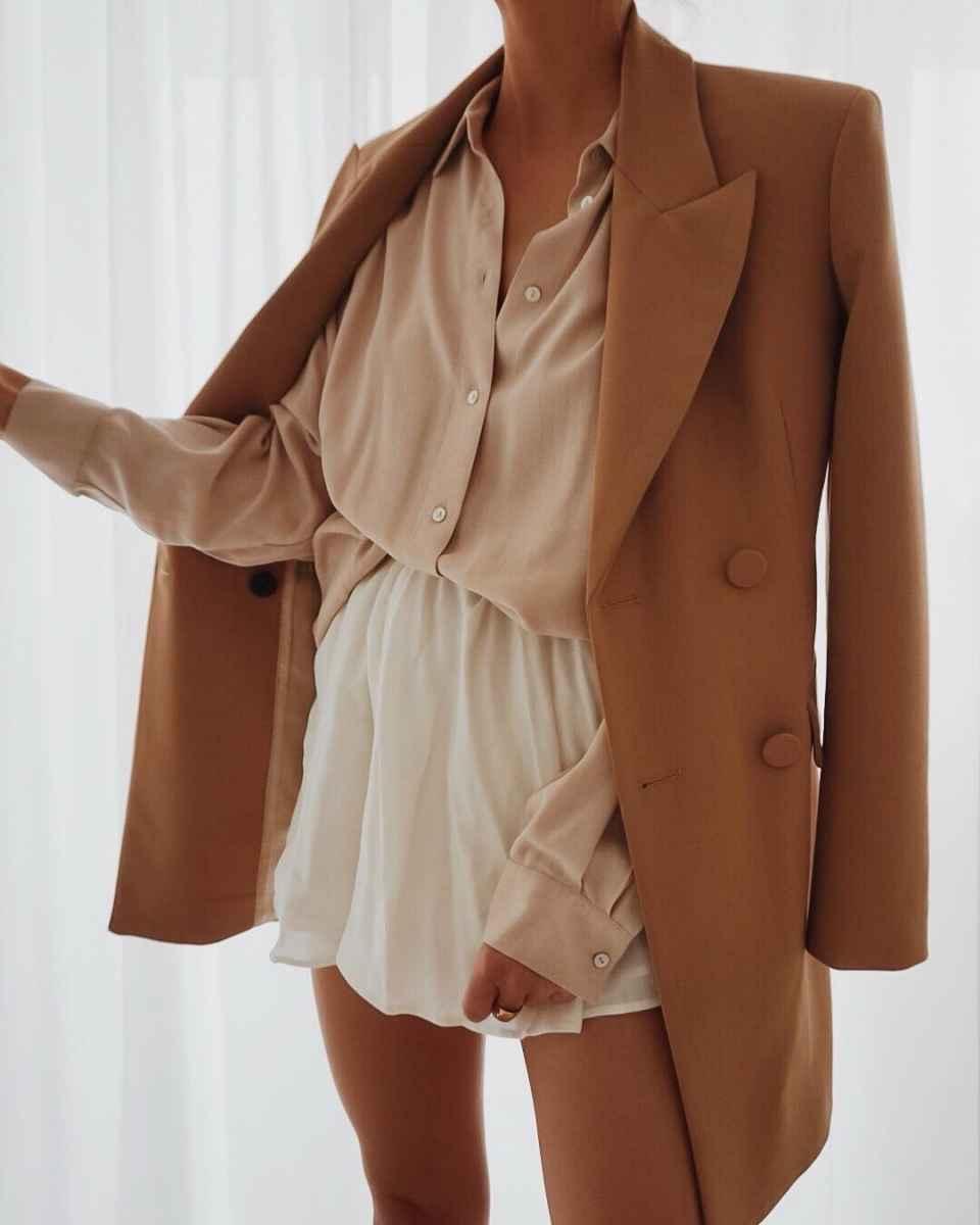 Красивые образы с блузами и рубашками 2019 фото_9