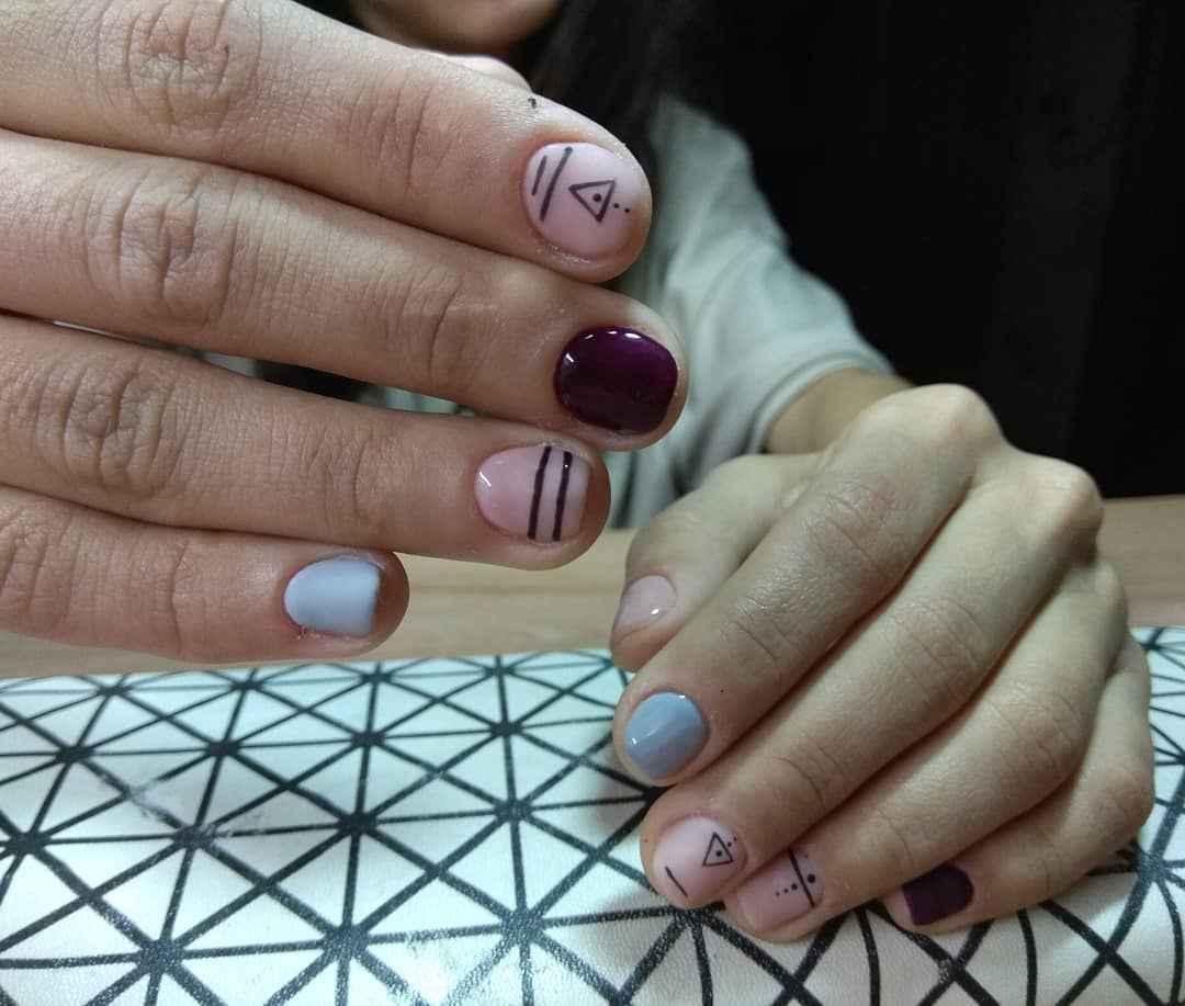 Маникюр на очень короткие ногти фото_2