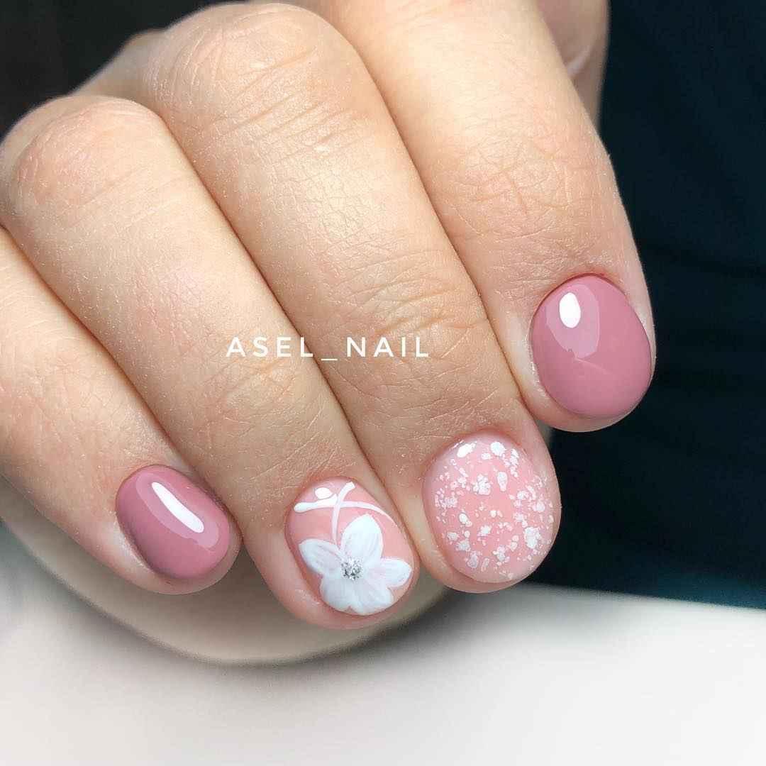 Тренды маникюра на короткие ногти весна 2019 фото_2
