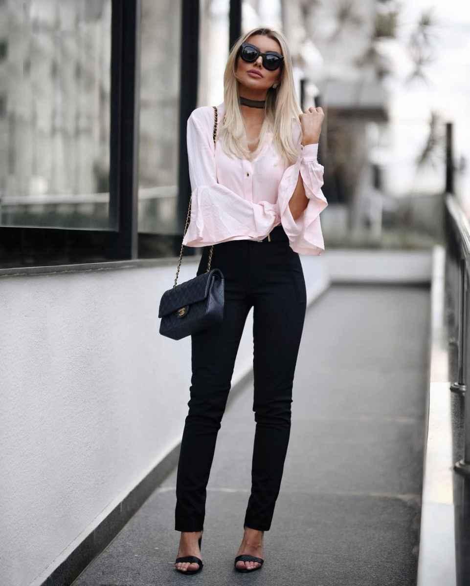 Красивые образы с блузами и рубашками 2019 фото_6