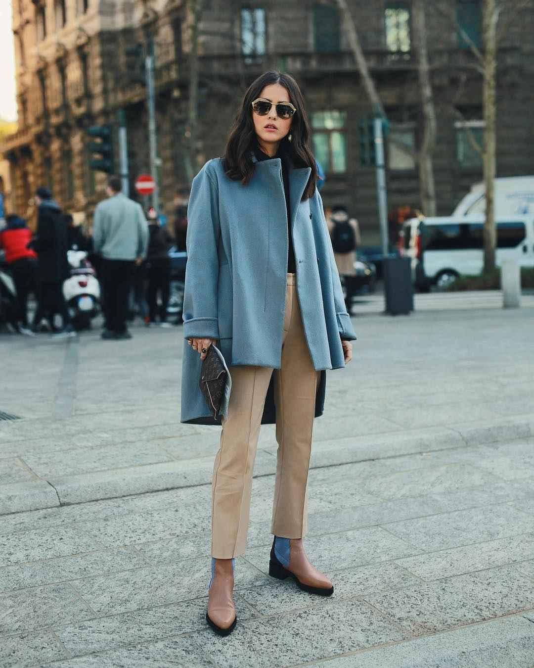 Модный офисный стиль 2019-2020 с брюками фото идеи_12