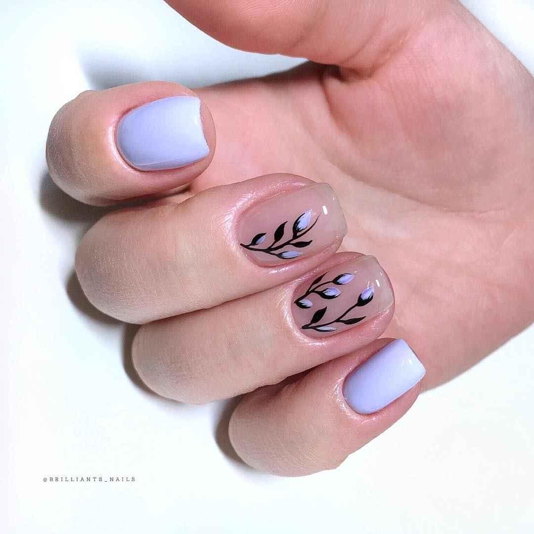 Пастельный маникюр на коротких ногтях фото_36