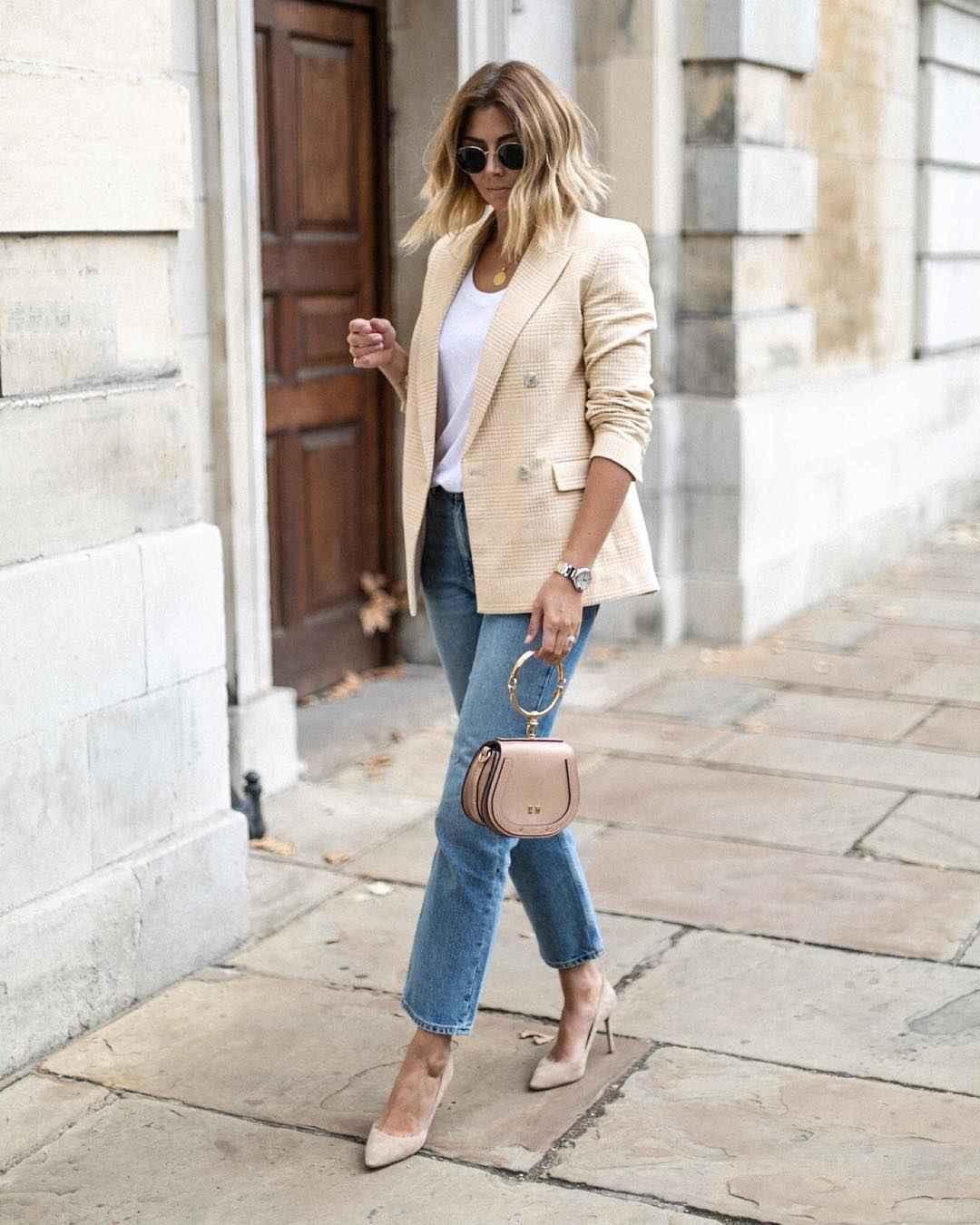 Деловой стиль 2019-2020 с джинсами фото идеи_8