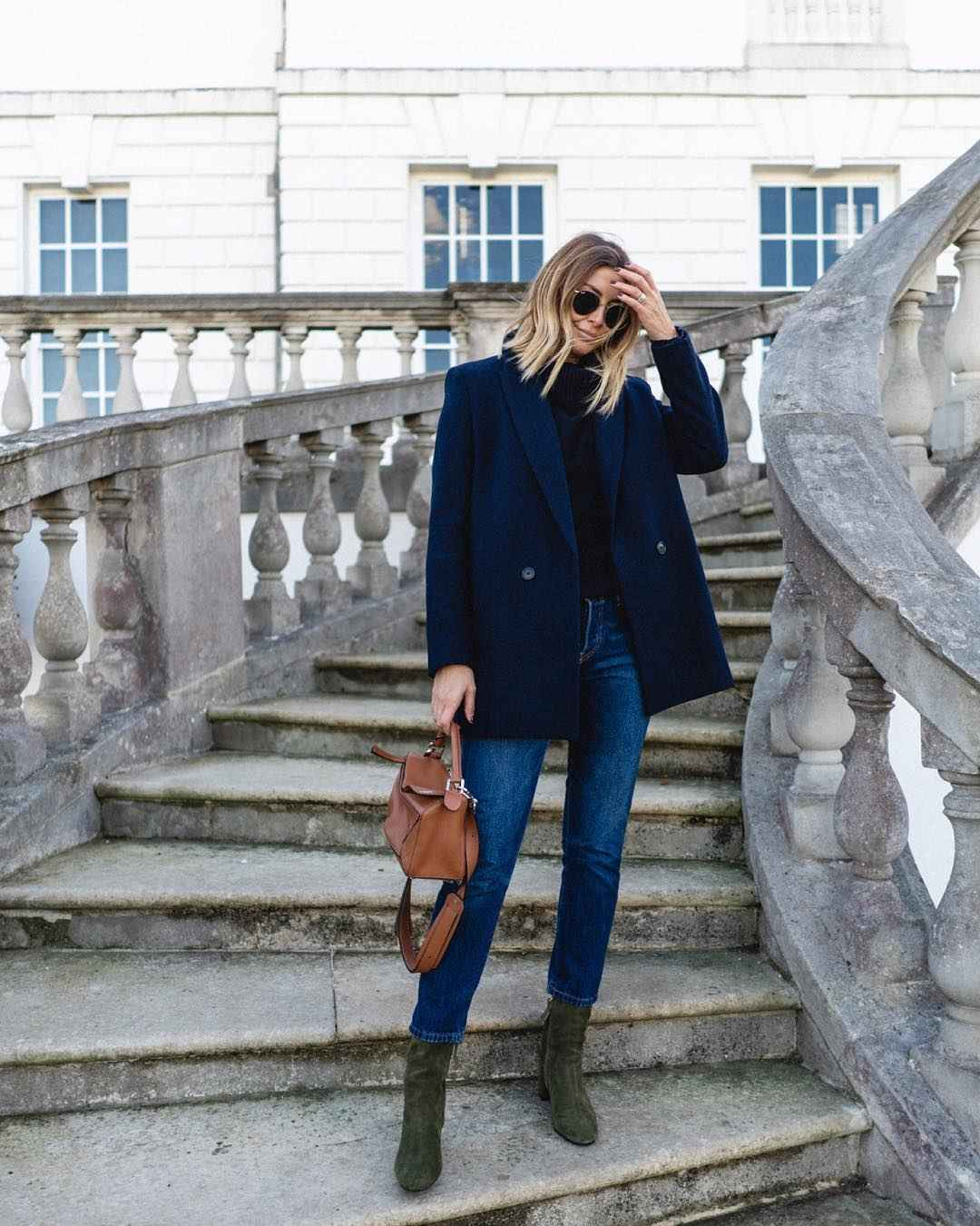 Деловой стиль 2019-2020 с джинсами фото идеи_7