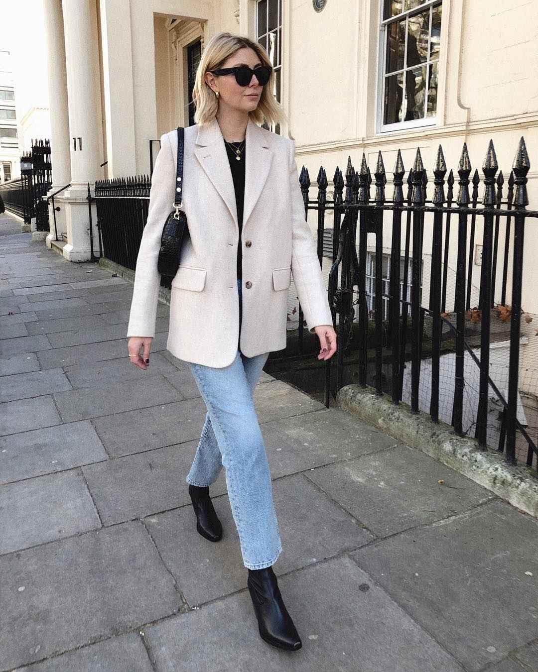 Деловой стиль 2019-2020 с джинсами фото идеи_6