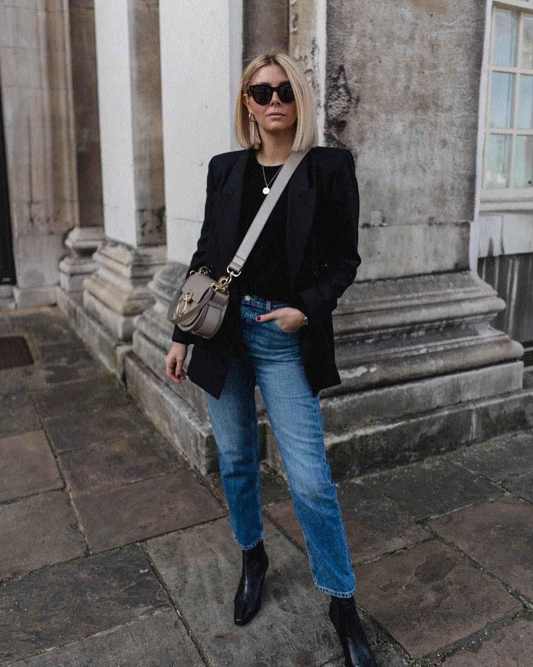 Деловой стиль 2019-2020 с джинсами фото идеи_5