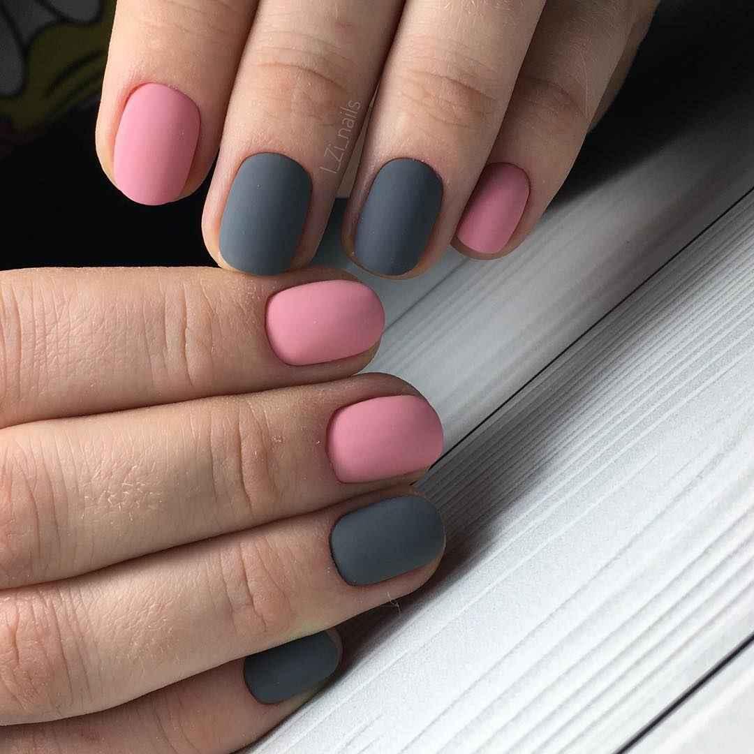 Маникюр на очень короткие ногти фото_10