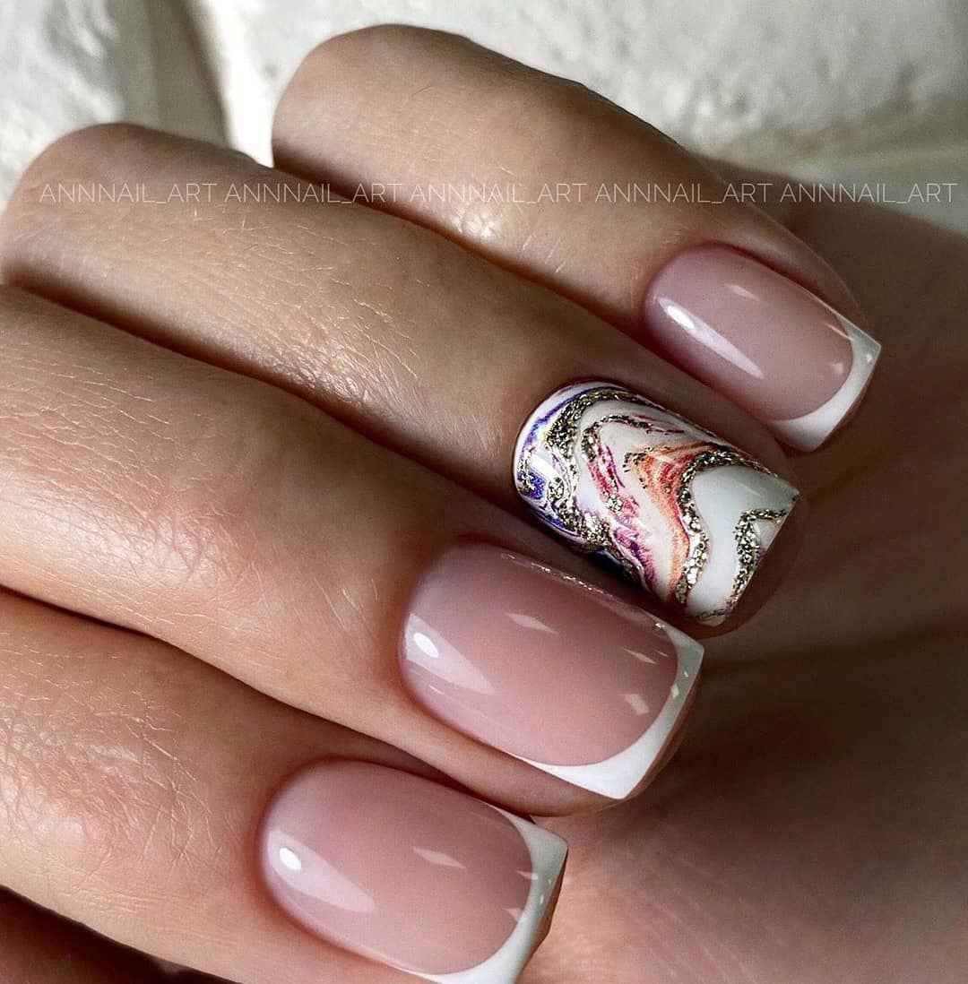 Маникюр на короткие ногти весна 2020 фото_27