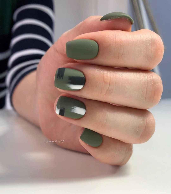 Маникюр на короткие квадратные ногти весна 2019 фото_5
