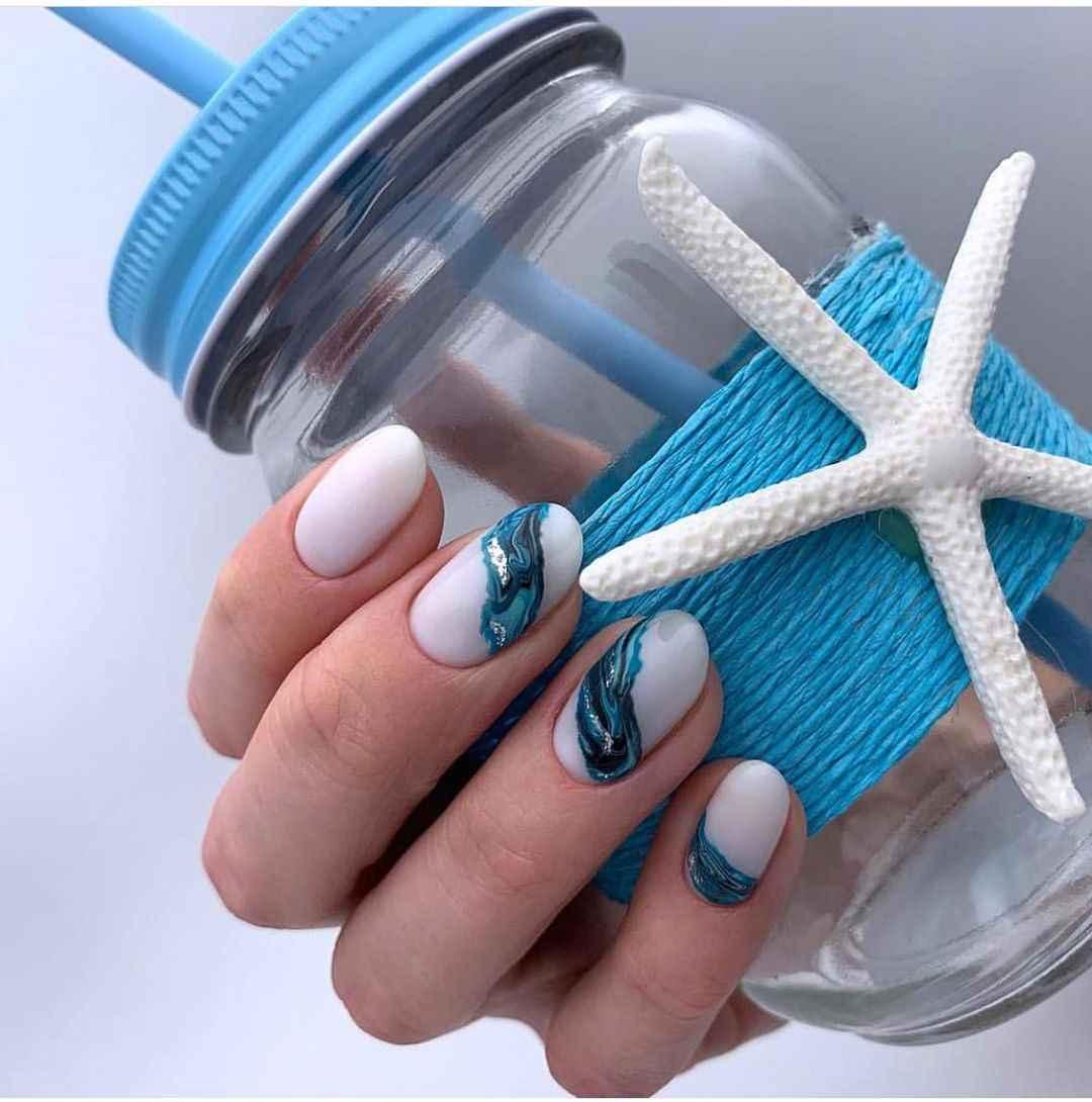 Пастельный маникюр на коротких ногтях фото_37