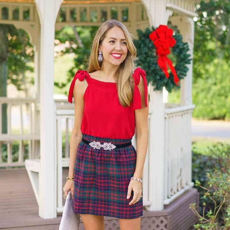 красные рубашки и блузы 2019 фото_4