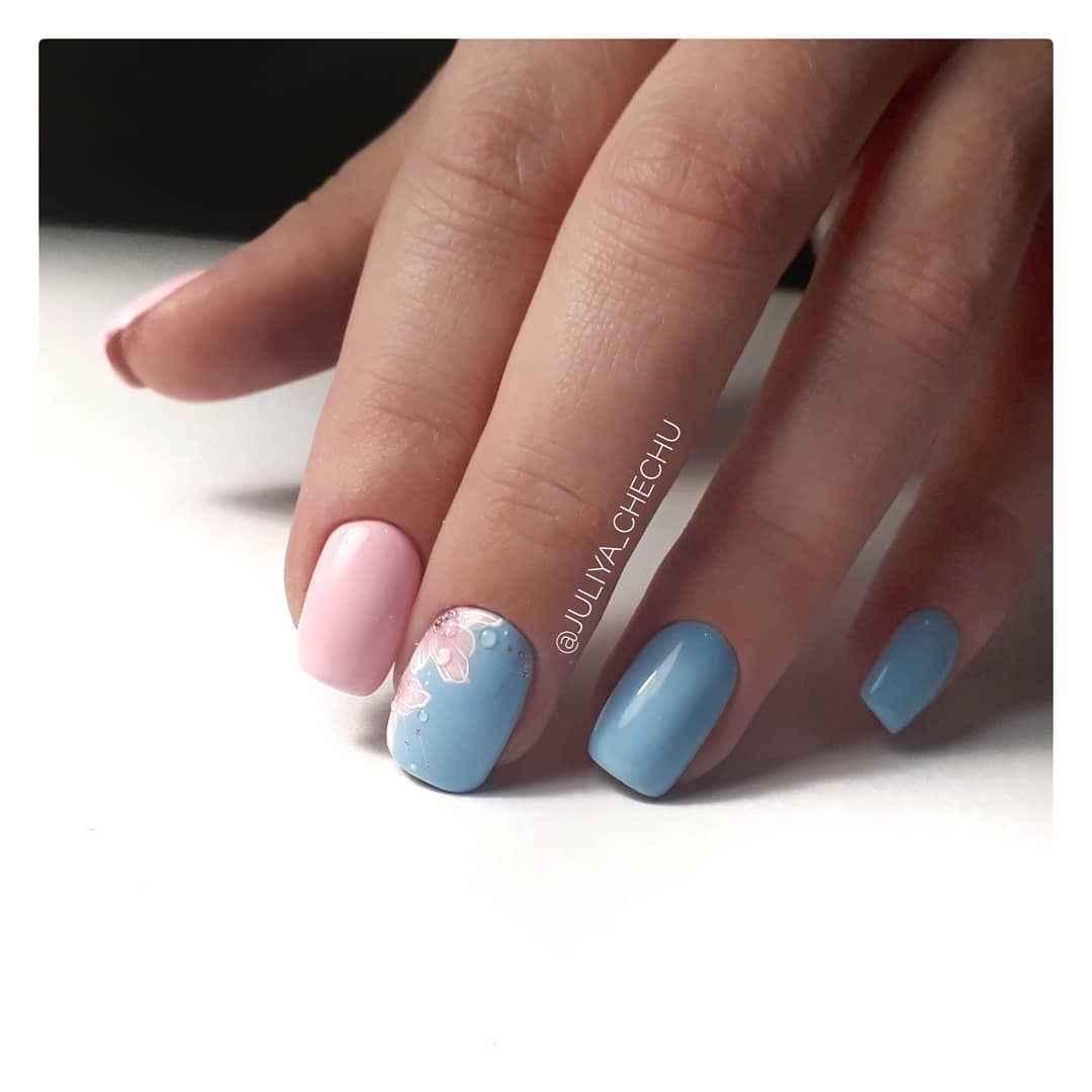 Пастельный маникюр на коротких ногтях фото_38