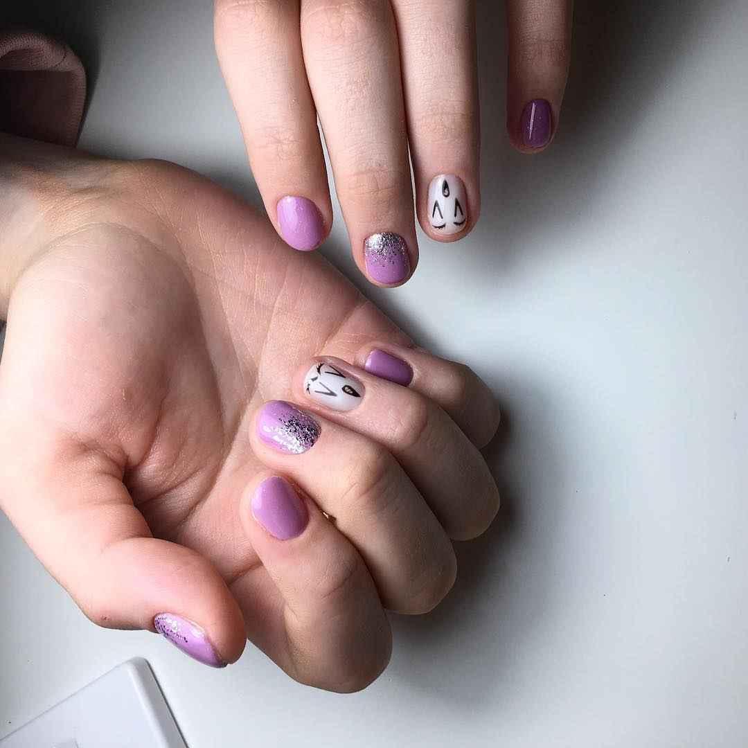 Маникюр на очень короткие ногти фото_5