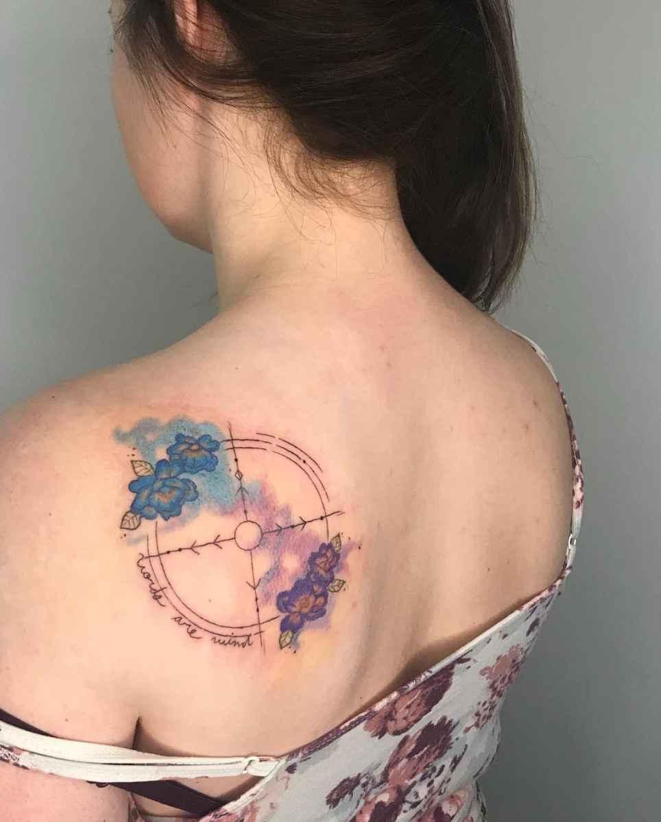 Женское тату компас фото_30