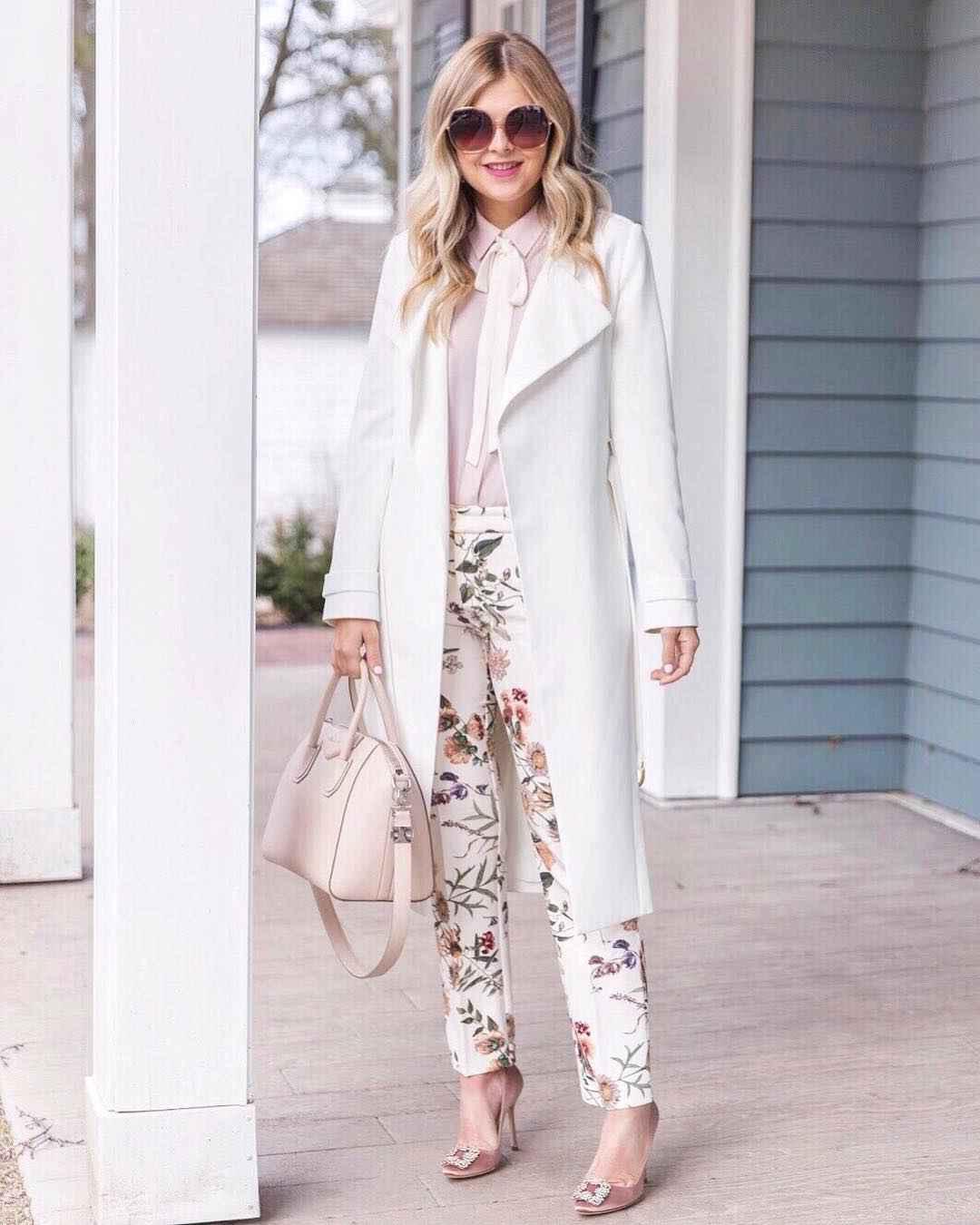 Модный офисный стиль 2019-2020 с брюками фото идеи_1