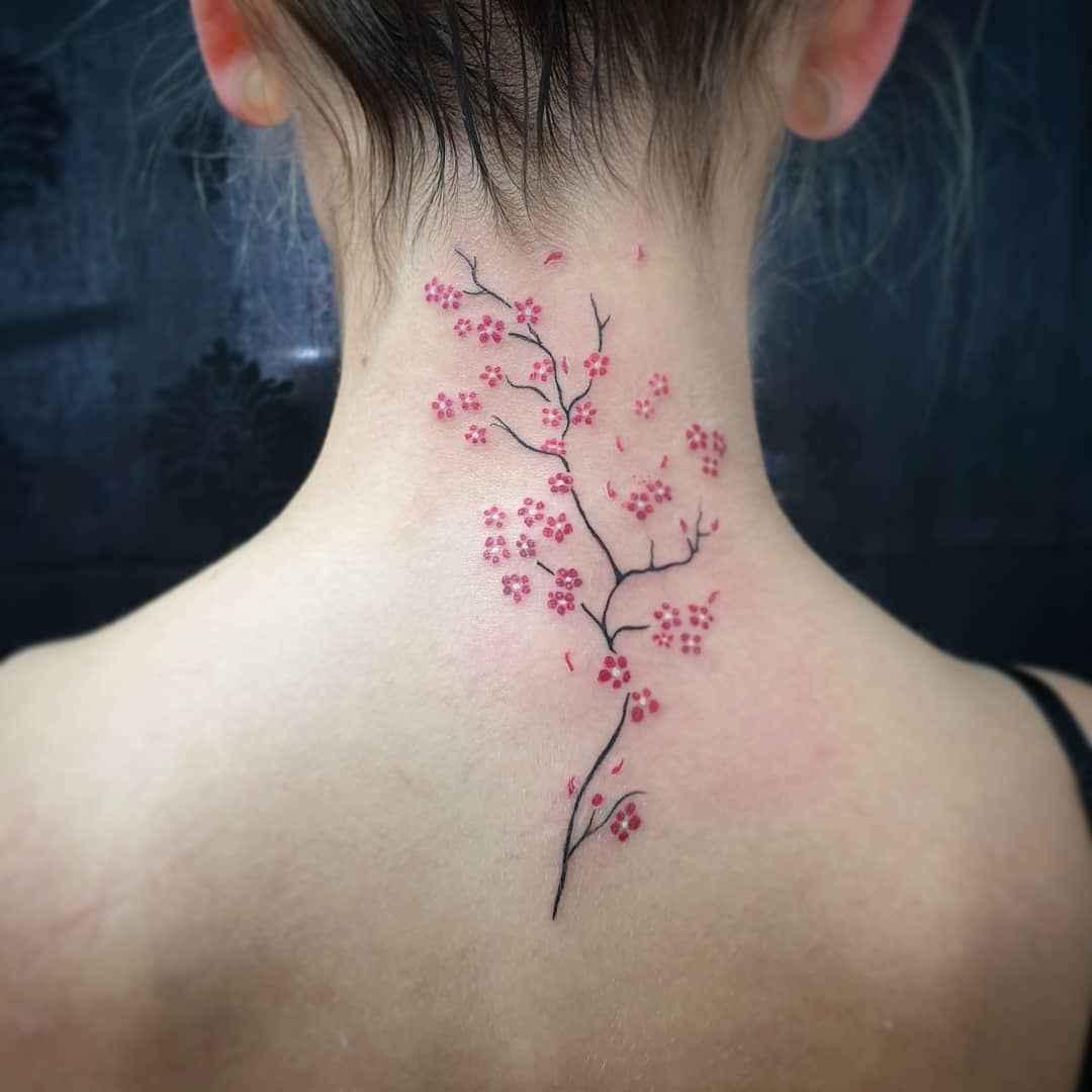 женское тату сакура фото_9