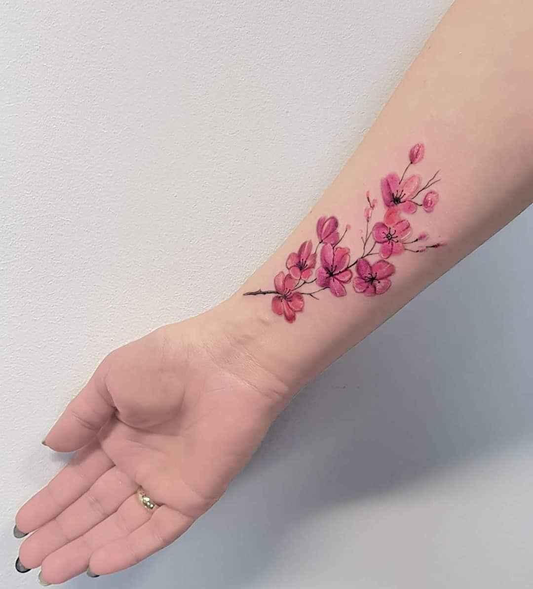 женское тату сакура фото_10