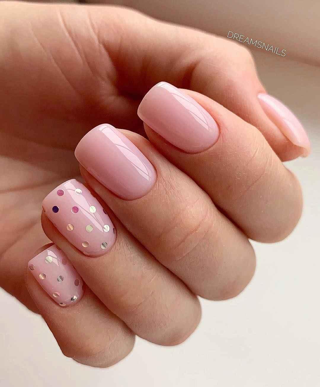 Маникюр на короткие квадратные ногти весна 2019 фото_1