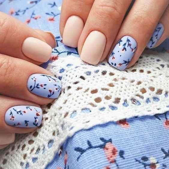 Пастельный маникюр на коротких ногтях фото_16