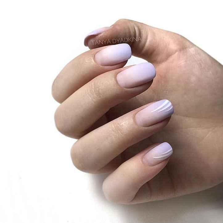 Пастельный маникюр на коротких ногтях фото_13