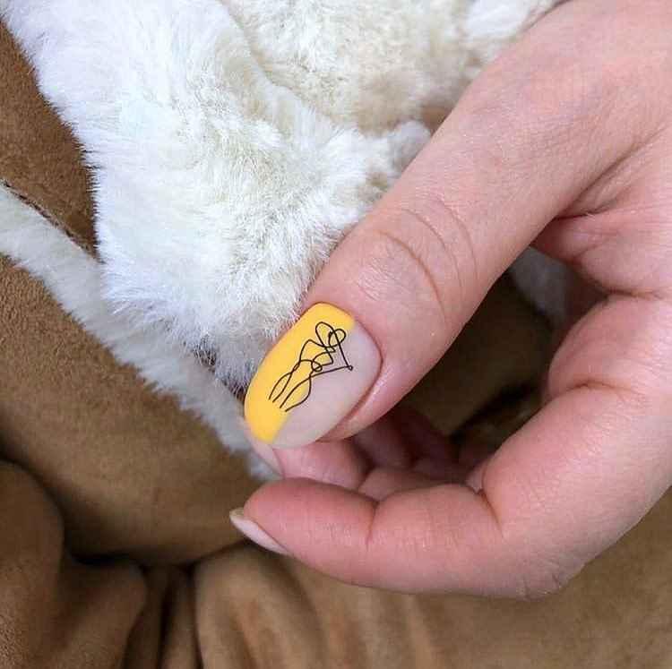 Пастельный маникюр на коротких ногтях фото_12