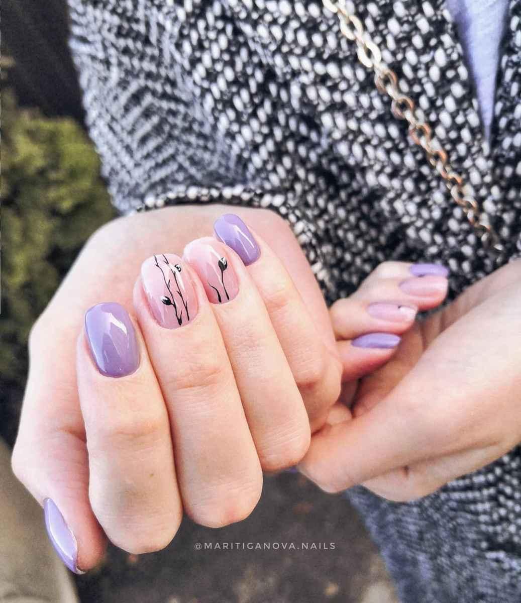 Пастельный маникюр на коротких ногтях фото_22