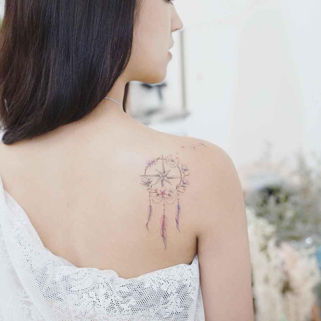 Женское тату компас фото_28