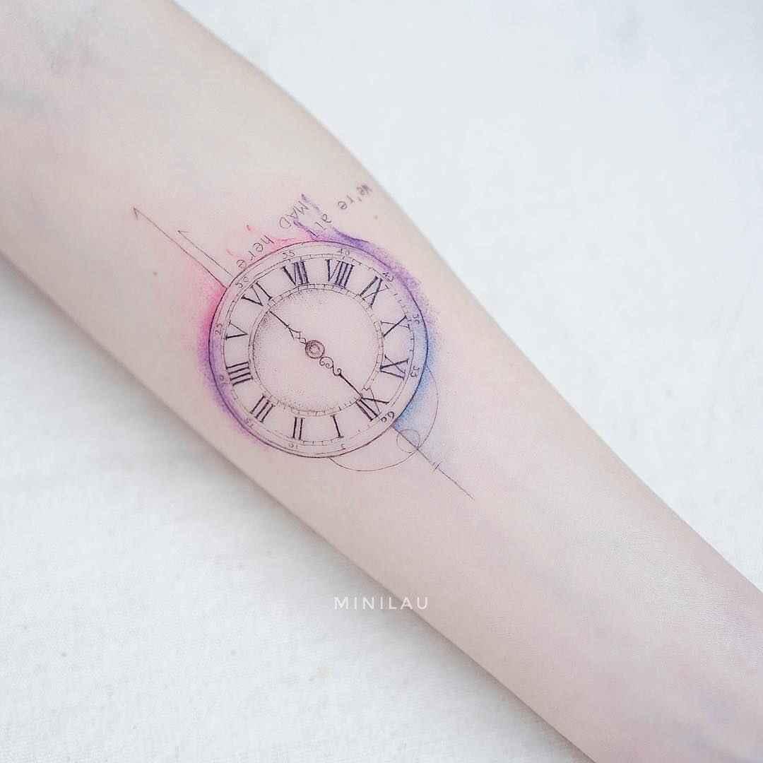 Женское тату компас фото_29
