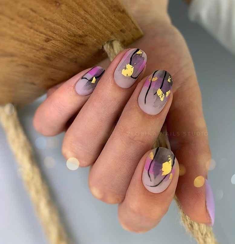 Маникюр на короткие ногти весна 2020 фото_4