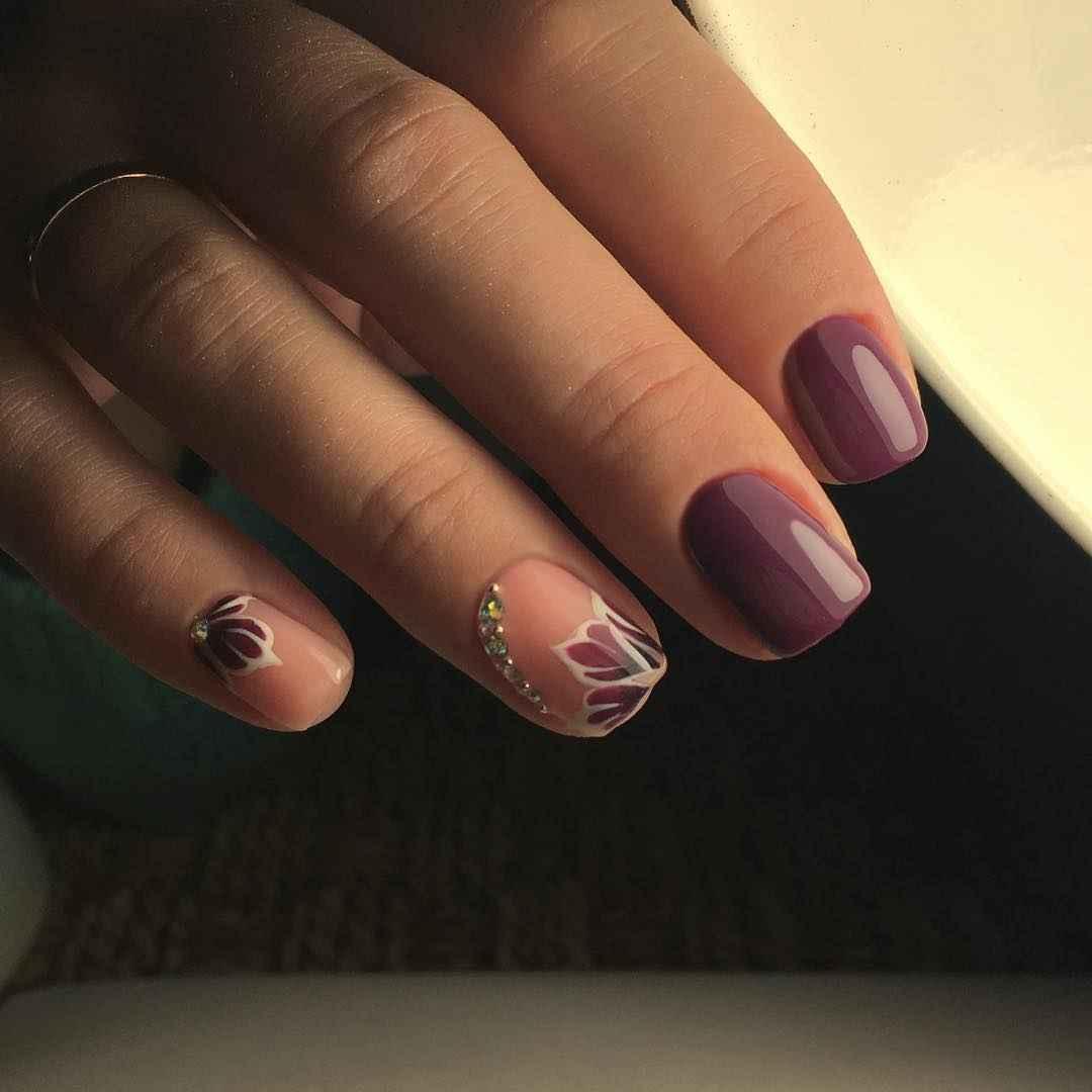 Маникюр на короткие квадратные ногти весна 2019 фото_10