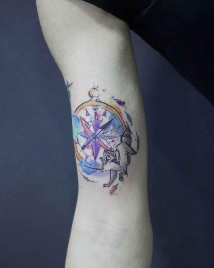 Женское тату компас фото_11