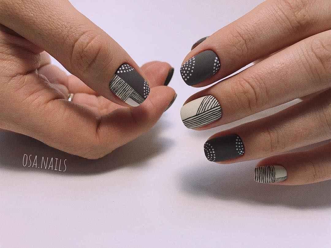 Маникюр на очень короткие ногти фото_12