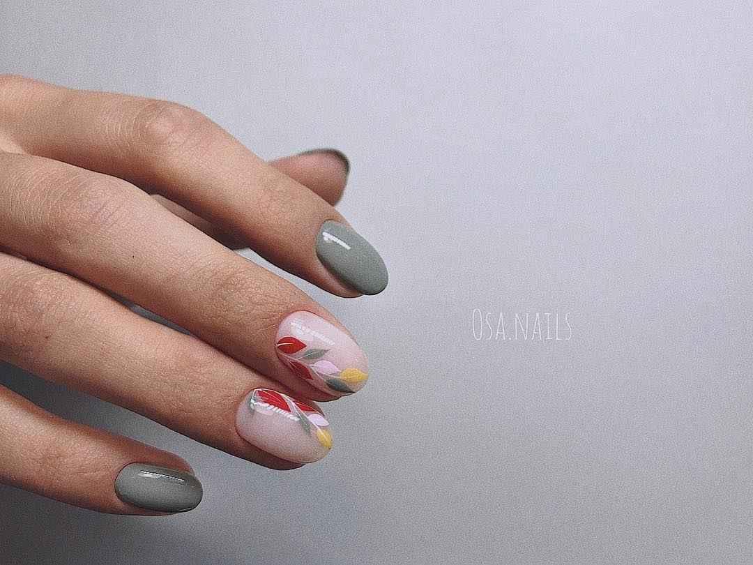 Тренды маникюра на короткие ногти весна 2019 фото_6