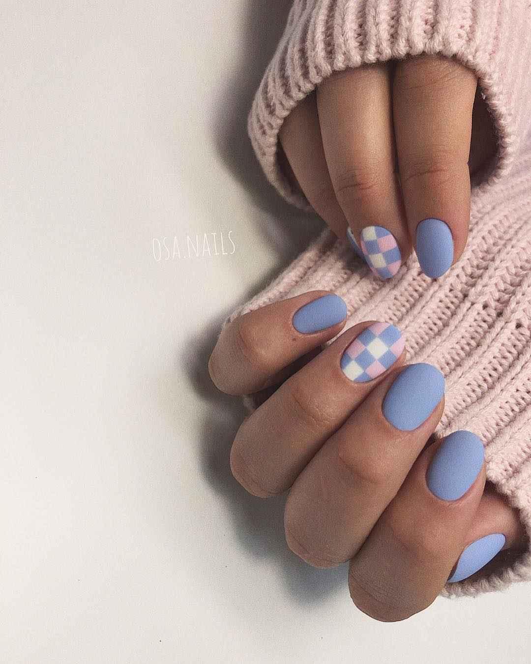 Тренды маникюра на короткие ногти весна 2019 фото_4