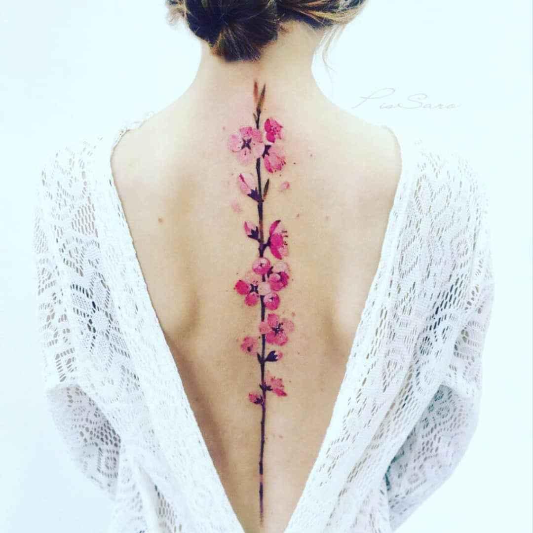 женское тату сакура фото_21