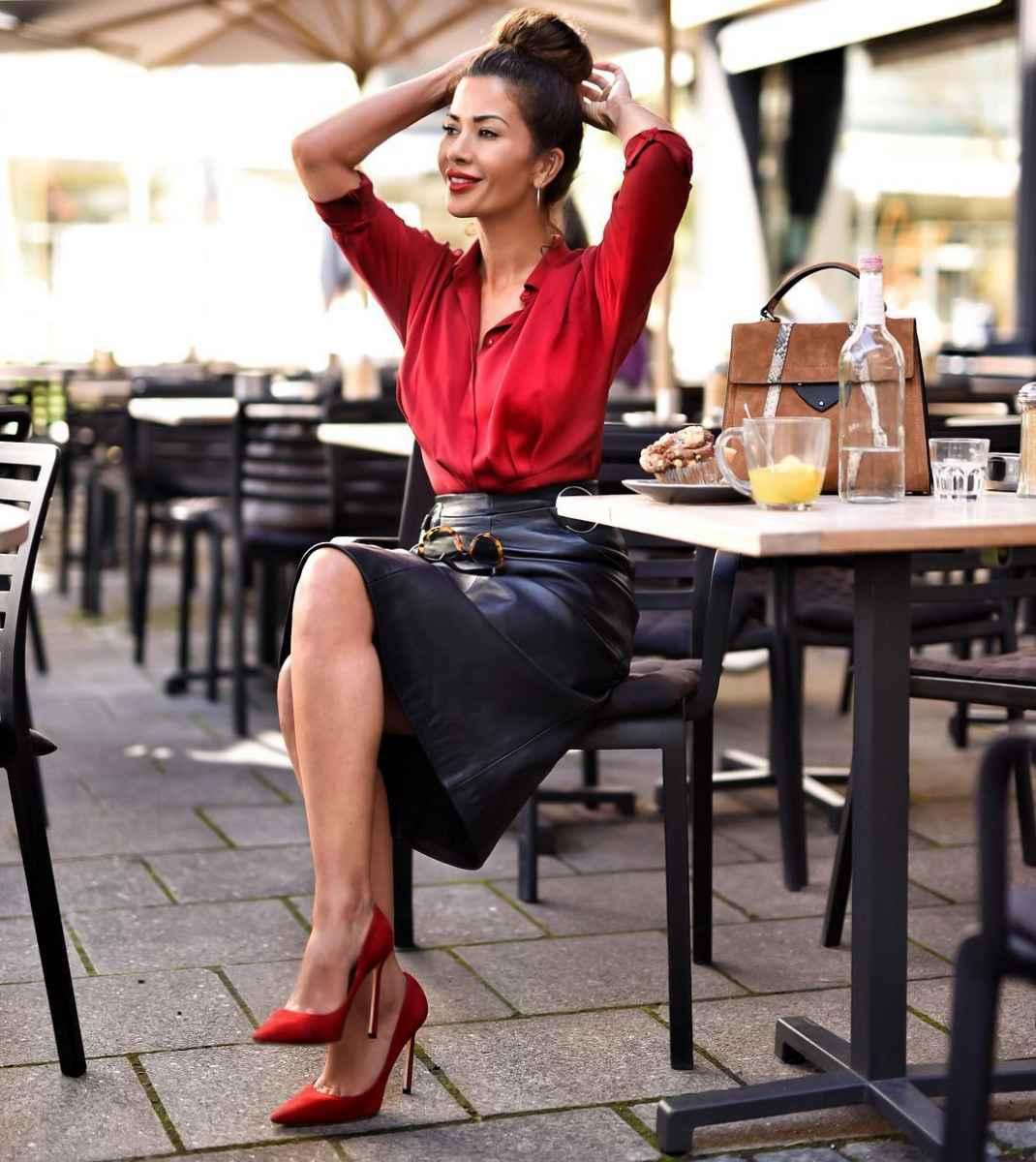 красные рубашки и блузы 2019 фото_1