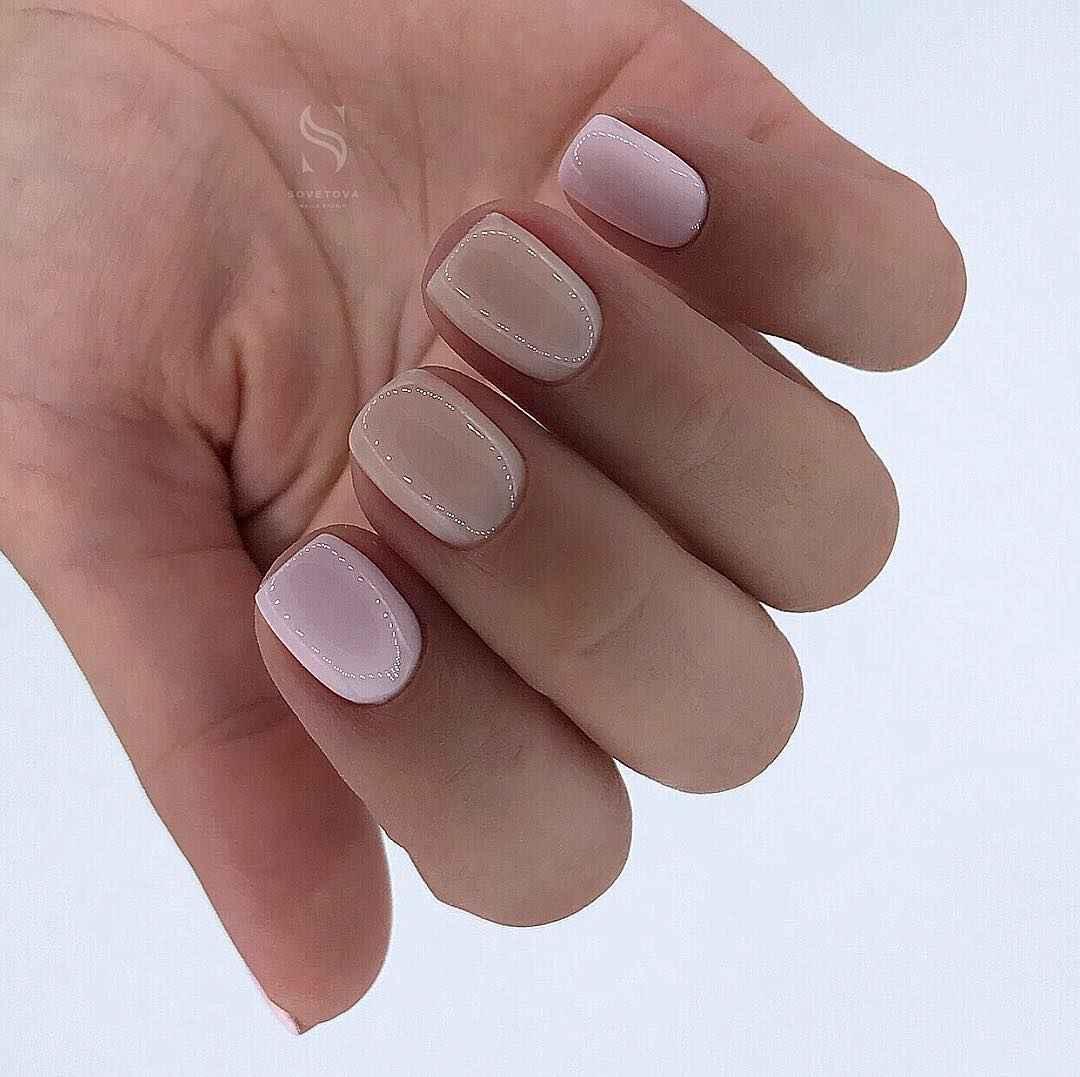 Пастельный маникюр на коротких ногтях фото_2