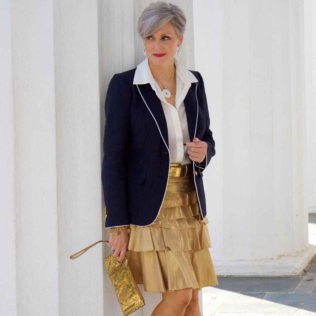 рубашки и блузы для женщин 50 лет 2019 фото_12